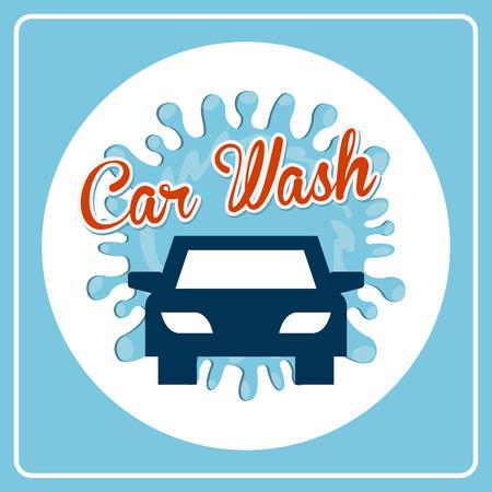 lavado: dise�o de lavado de coches, ilustraci�n vectorial gr�fico Vectores