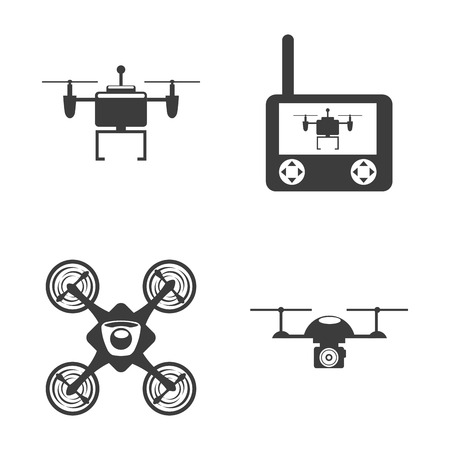 drone technology design, vector illustration graphic