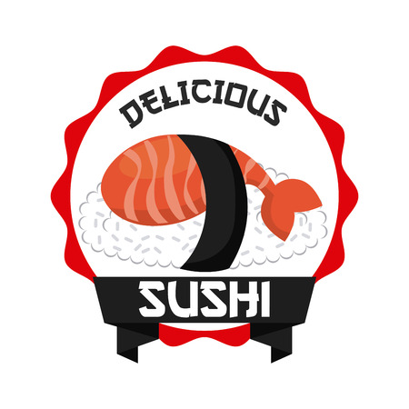 delicious sushi design, vector illustration eps10 graphic Vector