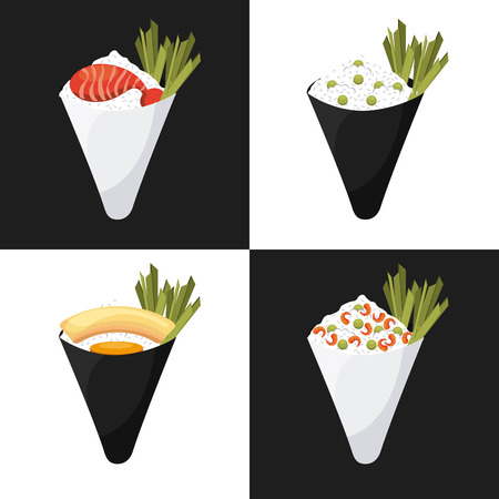 日本料理: 日本フード デザイン、ベクトル イラスト eps10 グラフィック  イラスト・ベクター素材