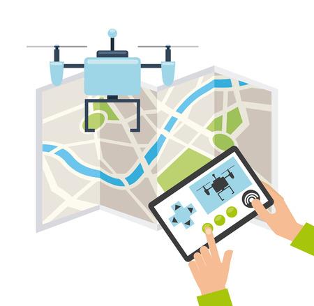 drone technology design, vector illustration eps10 graphic Vector