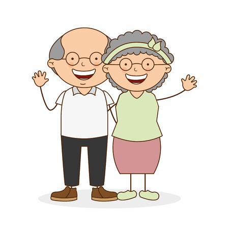 grootouders dag ontwerp, vectorillustratie eps10 grafische