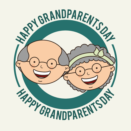 smyle: grandparents day design, vector illustration eps10 graphic