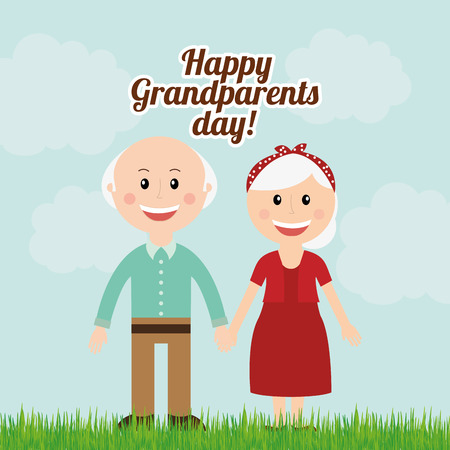 grandparents day design, vector illustration eps10 graphic Vector