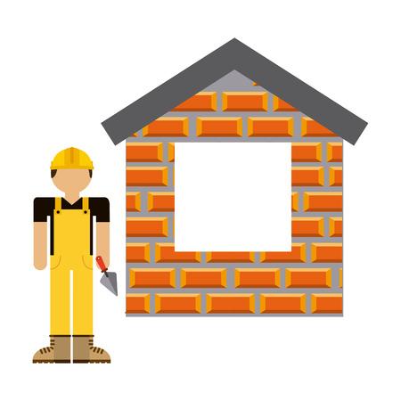 briks: under construction design, vector illustration eps10 graphic Illustration