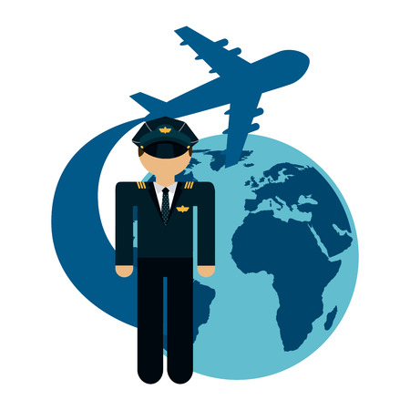 airline pilot: airplane pilot design, vector illustration eps10 graphic