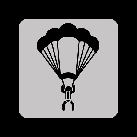 parachuter: parachute silhouette design, vector illustration eps10 graphic