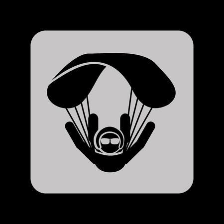 parachute silhouette design, vector illustration eps10 graphic Vector