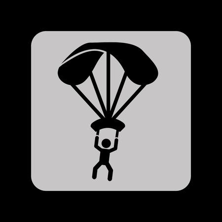 fallschirmj�ger: Fallschirm-Silhouette, Vektor-Illustration eps10 Grafik Illustration