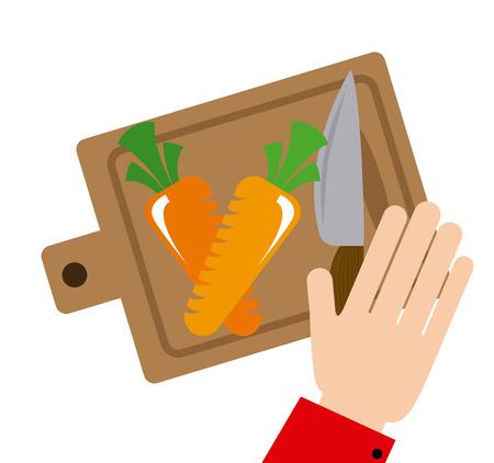 cutting vegetables: cutting vegetables design, vector illustration eps10 graphic Illustration