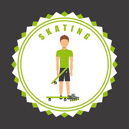 rollerblades: skating seal design, vector illustration eps10 graphic