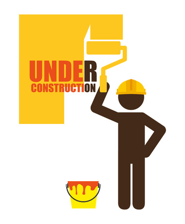 industrial construction: under construction design, vector illustration eps10 graphic Illustration