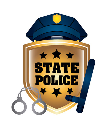 special service agent: state police design, vector illustration eps10 graphic