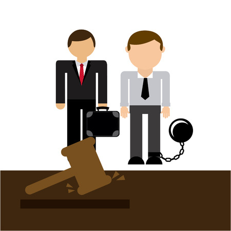 office slave: lawyer job design, vector illustration eps10 graphic Illustration