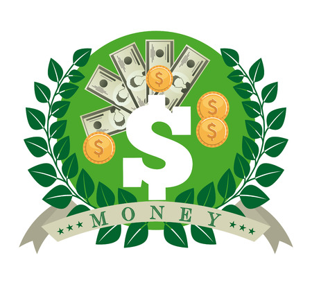 gold leafs: money icon design, vector illustration eps10 graphic Illustration