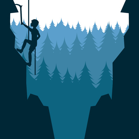 mountain climbing design, vector illustration  Vector