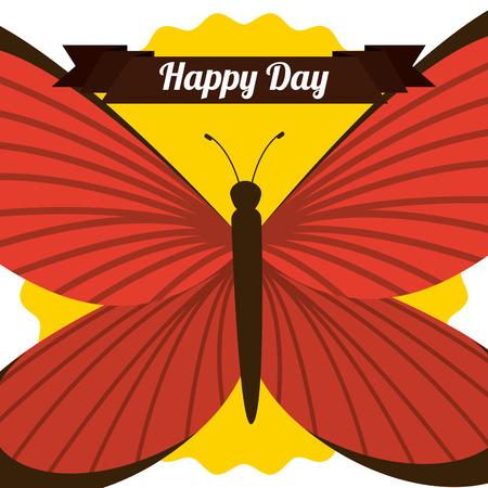 mariposas volando: mariposas vuelan dise�o, ilustraci�n vectorial Vectores