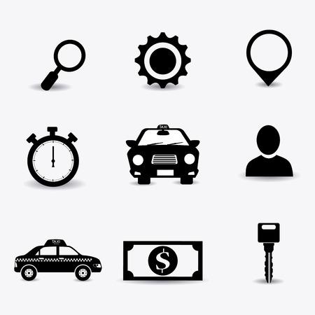 car bills: Taxi service design over white background, vector illustration. Illustration