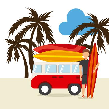 surfing hawaii design, vector illustration Vector