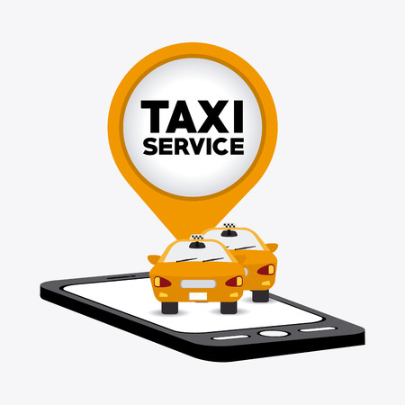 taxi: Taxi service design over white background, vector illustration. Illustration