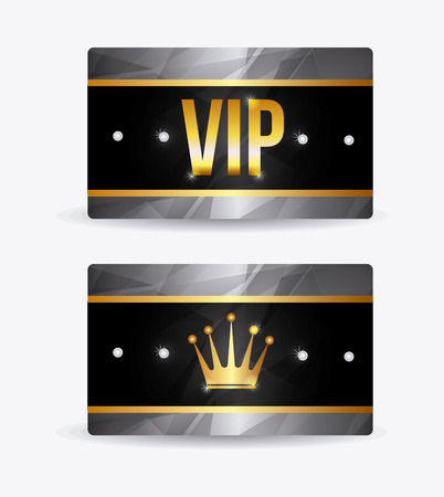 ad board: VIP design over white background, vector illustration. Illustration