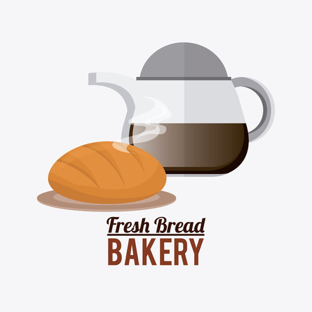 quality of life: Bakery design over white background, vector illustration. Illustration