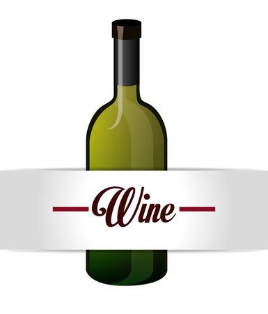 nutriments: Wine design over white background, vector illustration. Illustration