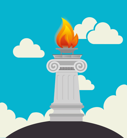 cloudscape: Sport design over cloudscape background, vector illustration. Illustration