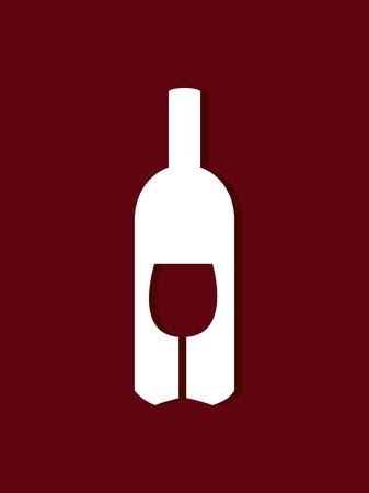 nutriments: Wine design over red background, vector illustration.