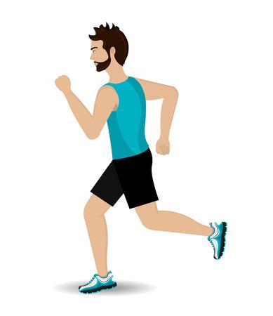 athletic wear: Running design over white background, vector illustration.