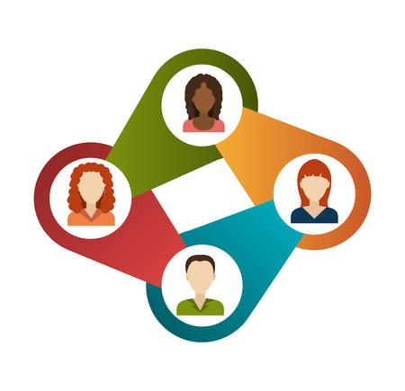 socialising: Diseño de la red sobre el fondo blanco, ilustración vectorial.