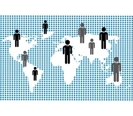socializing: Network design over white background, vector illustration.