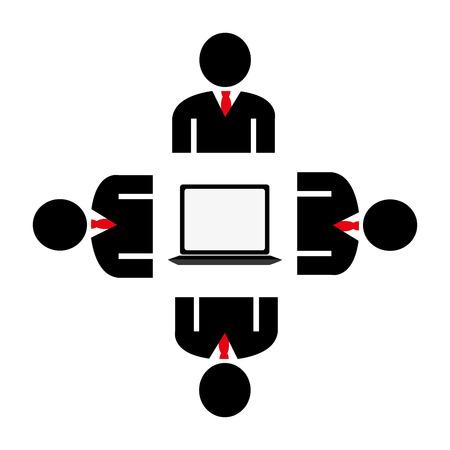socializando: Dise�o de la red sobre el fondo blanco, ilustraci�n vectorial.