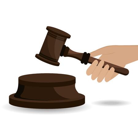 barrister: Law design over white background, vector illustration. Illustration