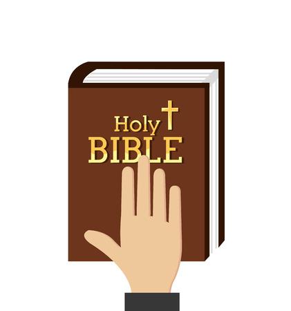 Holy bible design over white background, vector illustration.