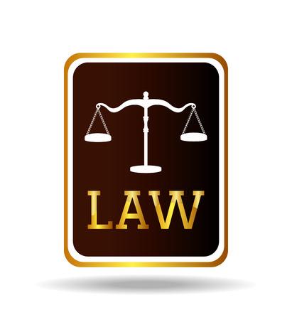 prosecutor: Law design over white background, vector illustration. Illustration