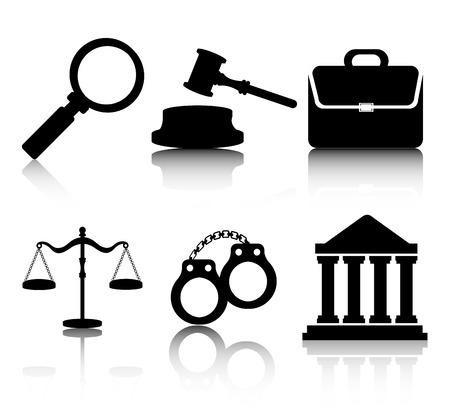 prosecutor: Legge disegno su sfondo bianco, illustrazione vettoriale.