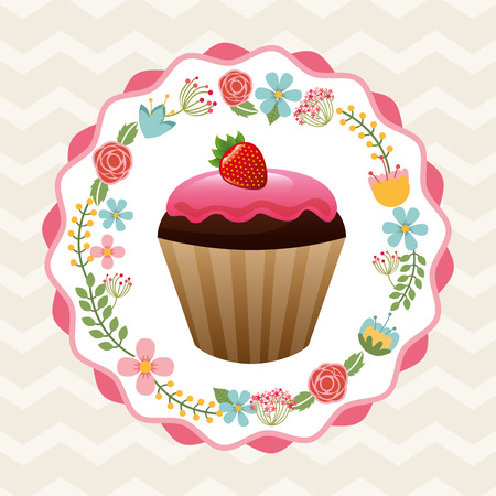 cupcake illustration: sweet cupcake design, vector illustration eps10 graphic