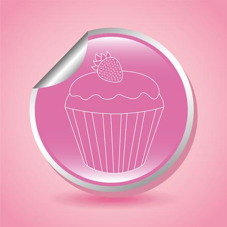 cupcake illustration: sweet cupcake design, vector illustration eps10 graphic
