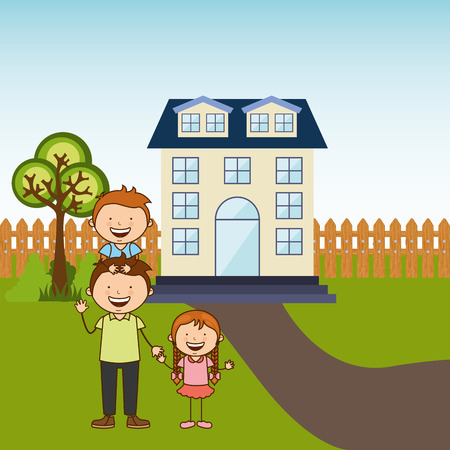 happy family design, vector illustration eps10 graphic Vector