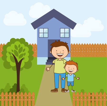 residences: happy family design, vector illustration eps10 graphic