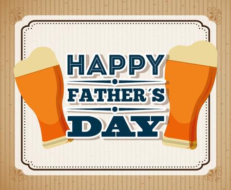 幸せな父親の日デザイン、ベクトル図 eps10 グラフィック