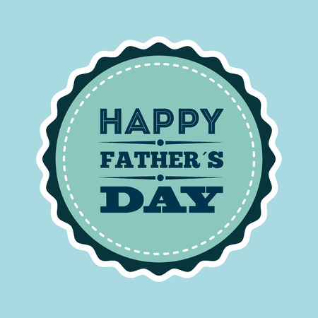 happy holidays card: happy fathers day design, vector illustration eps10 graphic