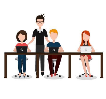 Coworking design over white background, vector illustration. Ilustração