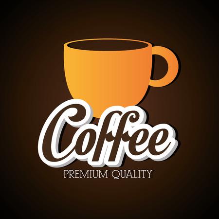 nutriments: Coffee design over brown background, vector illustration.