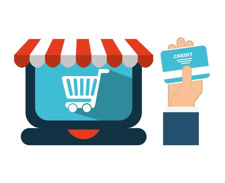 ecommerce icon design, vector illustration eps10 graphic