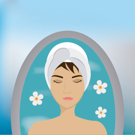 alternative therapy: SPA design over blue background, vector illustration.