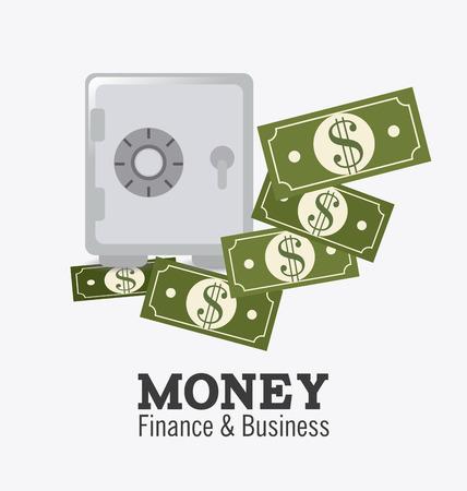 strongbox: Money design over white background, vector illustration.