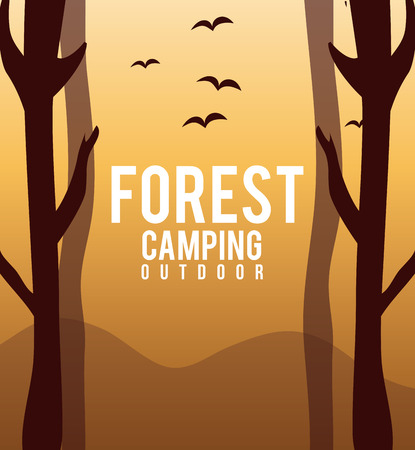 lanscape: Camping design over lanscape background, vector illustration. Illustration