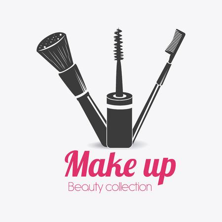 make up: Make up design over white background, vector illustration.